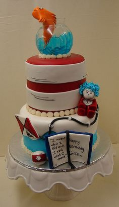 Cat and The Hat Birthday Cake