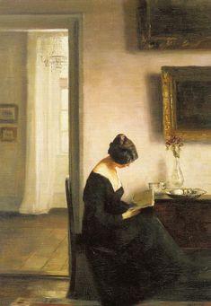 pintura de Carl Vilhelm Holsoe (1863-1935).