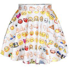 Satin Mini Pleated Skirt with Cartoon Emotion Icons Pattern - iDreamMart.com