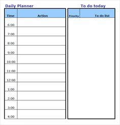 templates for planners