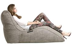 Avatar Lounger Bean Bag in Eco Weave (Indoor) Bean Bag Design, Outdoor Bean Bag, Interior Color Schemes, Home Theater Seating, Luxury Sofa, Daybed, Bean Bag Chair, Bean Bag Lounger, Colorful Interiors
