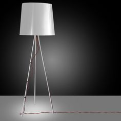 White design & Red detail for Eva lamp by Martinelli Luce Contemporary Floor Lamps, Modern Floor Lamps, Traditional Lamps, Modern Lighting Design, Led Floor Lamp, Extruded Aluminum, Conceptual Design, Diffused Light, Lighting Store