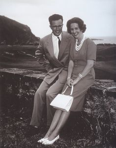 Baudoin and Fabiola during holidays in Spain, 1961