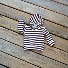 Purple stripe hoodie Gender neutral hoodieBaby by sweetwhitepeony2