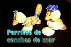 Mil ideas Scaly Dama Dragon: Perritos con conchas de mar, Adornos para la casa --DIY