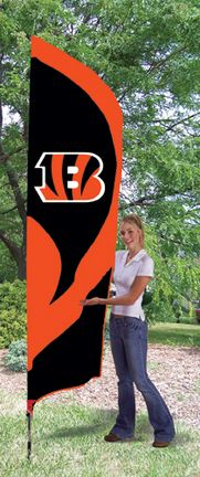 Cincinnati Bengals NFL Tall Team Flag with Pole: 8 1/2 ft x 2 1/2 ft applique and embroidered… #Sport #Football #Rugby #IceHockey
