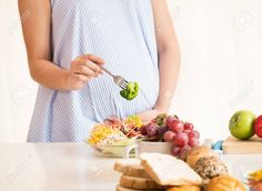 Pregnant Woman Eating Healthy Fresh Salad,healthy Nutrition During Pregnancy Stock Photo - Image of diet, prepare: 104513302 Healthy Salads, Healthy Nutrition, Healthy Smoothies, Healthy Habits, Healthy Drinks, Healthy Eating, Healthy Recipes, Pregnancy Nutrition, Balanced Meals