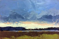 """""""Afternoon Rain, Winter"""", oil, 4 x 6"""", © Mary Bentz Gilkerson"""