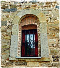 Window on Serbian Orthodox Church, Dobrovin, Kosovo
