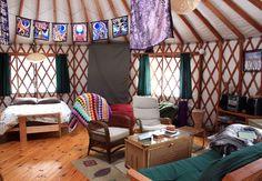 Yurt at Namekagon Waters Retreat is a special 'glamping' getaway