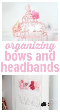Organizing bows and headbands