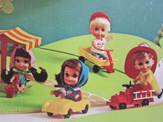 Instead of Barbies, we were into Liddle Kiddles and we each had about 15 of them. (1966-1970)
