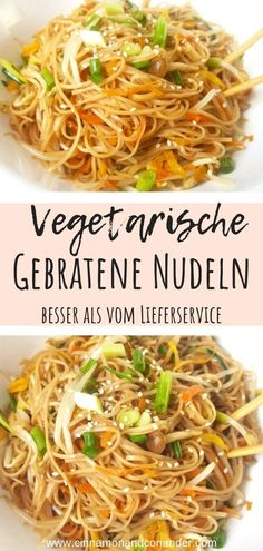 Rezepte Chinesisch Vegetarian Chow Mein - better than from the delivery Vegetarisches Chow Mein – besser als vom Lieferservice Fried Noodles Chow Mein Fun Easy Recipes, Easy Meals, Dinner Recipes, Healthy Recipes, Cooking Recipes, Chow Chow, Feta, Ethnic Recipes, Chinese Food Vegetarian