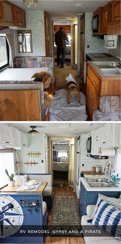 Camper Design Vibes: Tour this beach-worthy boho RV Renovation from Gypsy and a Pirate! Featured MountainModernLife.com