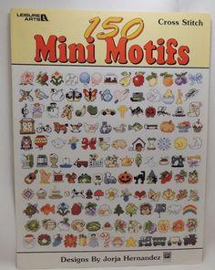 150 Mini Motifs Cross Stitch Patterns Leaflet 3066 Flowers Pumpkin Ladybug Horse #LeisureArts #MiniMotifs