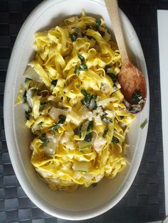 Pasta: Tagliatelle with swiss chard, cheese and sage mountain style www.easyitaliancuisine.com