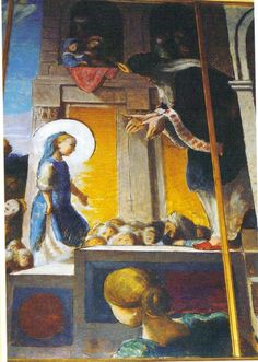 Edward Ardizzone Presentation in the Temple (detail of Faversham altarpiece in Kent)