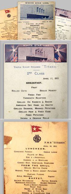 Incredible #vintage #menus from the Titanic! #menu #titanic #historyofmenus #historical #vintagemenu #musthavemenus #itmenutime #loveyourmenu