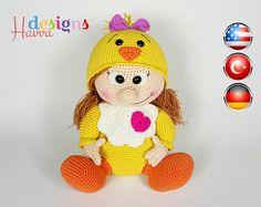 PATTERN  Chick Doll por HavvaDesigns en Etsy