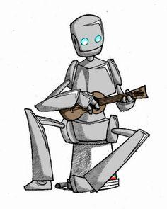 Image result for robot ukulele