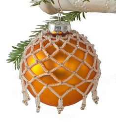 Beaded Victorian Ornament Cover Pattern