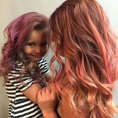 Strawberry Shortcake by @myhairfixation ❤️ @carmene0907  Color @pulpriothair  #pulpriothair #momanddaughter #hairgoals #kidsofinstagram #hairofinstagram #prettywomen #BARBAR #barbarhair #barbarhairtools