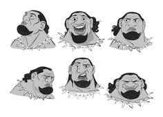 Draw Facial Expression Character Designs de Borja Montoro para o filme Moana! Character Model Sheet, Character Modeling, Character Drawing, Character Concept, Disney Expressions, Facial Expressions, Cartoon Network, Expression Sheet, Walt Disney