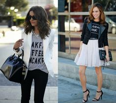 College Gloss: How to Style a Graphic Tee and Still Look On Point