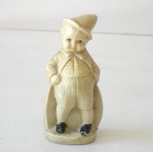 1920s Celluloid Figural Tape Measure Boy In Hat