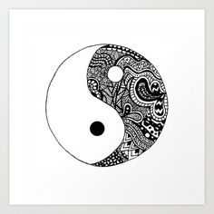 Yin Yang Art Print by Abby Mitchell - $14.00