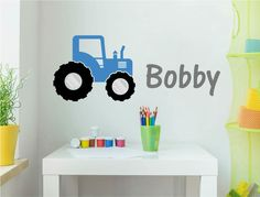 Add the perfect personalised touch to your boys bedroom, playroom or nursery with a cool tractor wall sticker. Colour options for both the name and the tractor Personalised Wall Stickers, Boys Wall Stickers, Name Stickers, Wall Sticker Design, Sit Back, Tractors, Playroom, Nursery, Cool Stuff