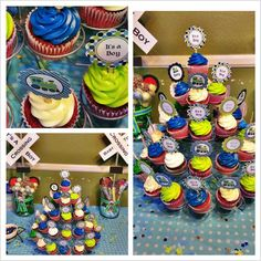 It's a boy!! Baby shower Cupcakes, Cake Pops & Chocolate Dipped Pretzels