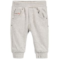 Diesel Kids Baby Boys Grey Marl Tracksuit Trousers at Childrensalon.com