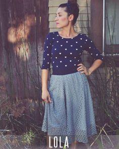 LuLaRoe Lola Midi skirt // Lularoe.com