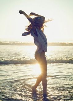 freedom of the beach....just let go, tickle your toes in the sand.. And dance like no one is watching
