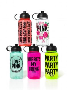 me gusta mucho la de rosas!!!!!!!!!!   Victoria's Secret PINK Water Bottle #VictoriasSecret http://www.victoriassecret.com/pink/stocking-stuffers/water-bottle-victorias-secret-pink?ProductID=4310=OLS?cm_mmc=pinterest-_-product-_-x-_-x
