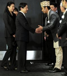 """Their Imperial Highnesses Crown Prince Naruhito, Crown Princess Masako and their daughter Princess Aiko attended the premier of the movie """"Everest: The Summit of the Gods"""""""