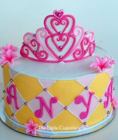 Princess Tiara Cake by TheLittleCupcakery, via Flickr