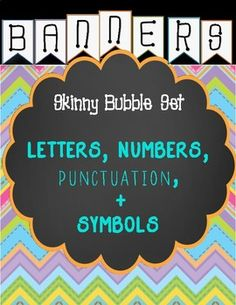 Banners- Skinny Bubble