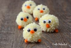 Easter Pom Pom Yarn Chicks » Easter is just around the corner. Those of us wanting to craft presents really need to start thinking about it now. The sooner you start the less of a rush job it will be and the more love and attention you can place into it. These Easter Pom Pom Yarn Chicks is a cute DIY to use for your kids or their classmates.