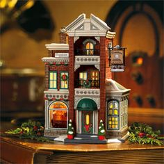 """Department 56: Products - """"Downtown Radios & Phonographs"""" - View Lighted Buildings. Retired city"""