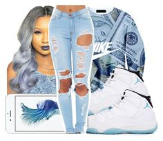 """""""Untitled #270"""" by gabb-slayy ❤ liked on Polyvore featuring NIKE and Retrò"""