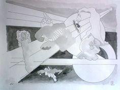 Dessin 2014 - Numéro 6 Février Aquarelle sur papier Canson CA grains 180 gr  25 x 32,5 cm
