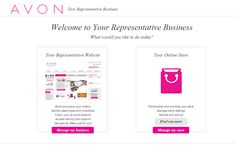 Manage my avon store manage my avon representative business