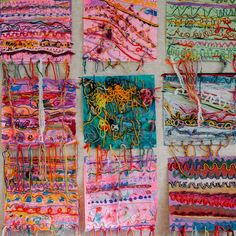 A mixed media line rug project to help first graders explore various materials, help develop fine motor skills and learn about various types of lines.