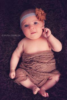 Ruth Zabalza: Sesión de fotos a una bebé de 1 mes