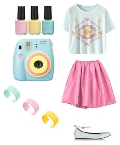 """""""I LOVE PASTELS"""" by annieanne-tumblr13 ❤ liked on Polyvore featuring BP., Lanvin, Polaroid and claire's"""