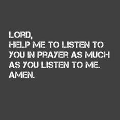 Productive prayer