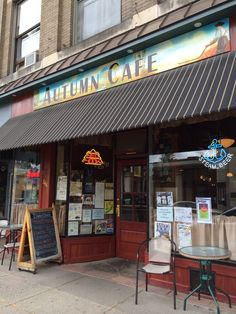 Autumn Cafe in Oneonta, NY- fun place- nice bar area, rustic , food is good, not great. favorite of the college students