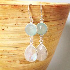Beach wedding jewelry, beach bride earrings, beach bridesmaid jewelry, aqua, wedding jewelry, beach wedding, beach bridesmaid earrings